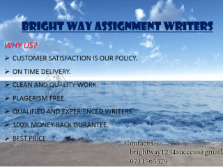 BRIGHTWAY SUCCESS ASSIGNMENT WRITERS