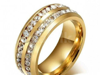 Attractive valuable gold colour crystal rings