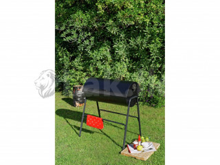 Charcoal Oil Drum BBQ with Warming Rack