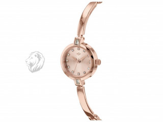 Spirit Ladies' Rose Colour Stone Set Watch and Bracelet Set