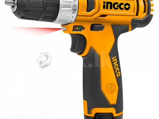 INGCO CORDLESS BATTERY DRILL / SCREW DRIVER 10mm/12V