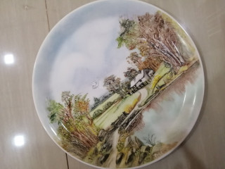 Antique Hand painting plate 1985